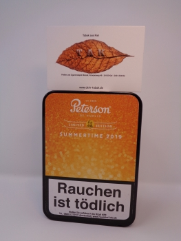 Restbestand ! Peterson Summertime 2019 Limited Edition - 100gr. Dose