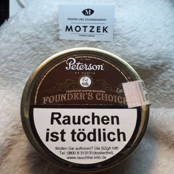 Restbestand ! Peterson Founder's Choice 100g Dose